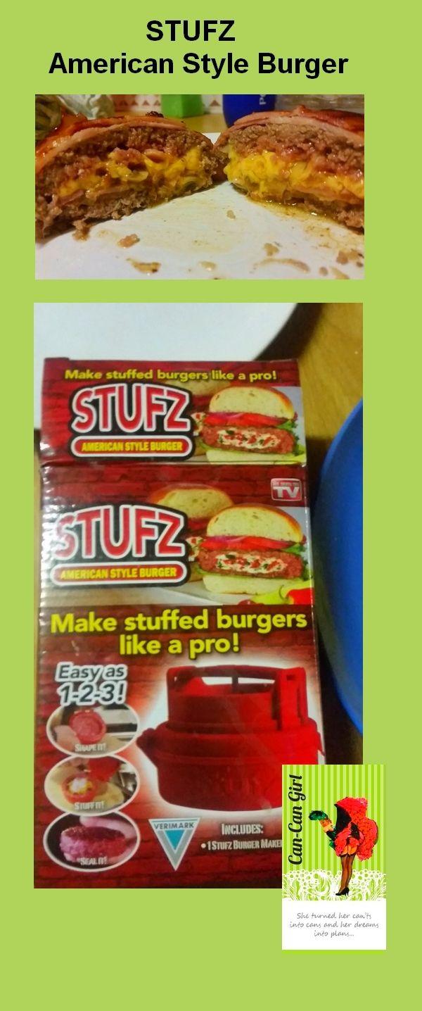 STUFZ - American Style Burger #STUFZ #LCHF #Burgers #CHECKERS #VERIMARK Make stuffed burgers like a pro.
