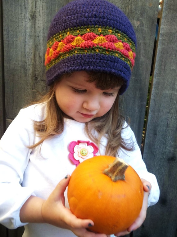 bright toddler beanie by Evelyn Mae Crochet - $20