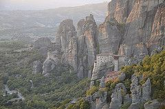 View from The Metéora Complexes of Eastern Orthodoz monasteries, Kalambaka, Greece