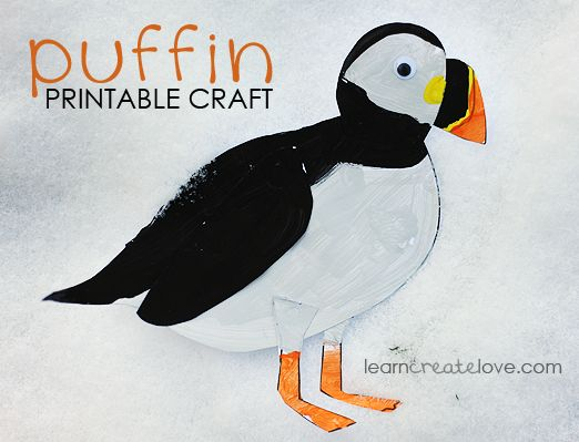 Printable Puffin Craft