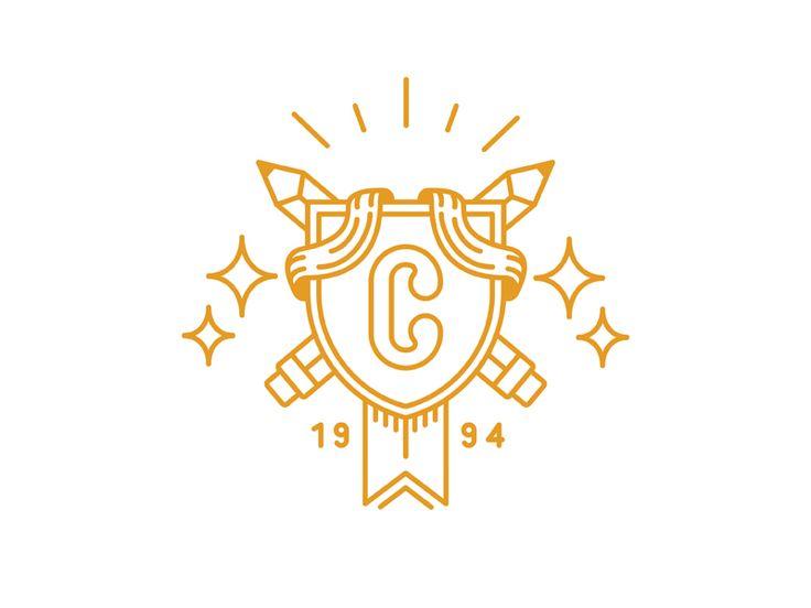 Gold crest or logo design