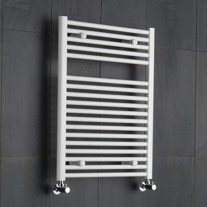 Etna Hydronic White Heated Towel Warmer 31 5 X 23 5 Heated Towel Rail Towel Rail Heated Towel