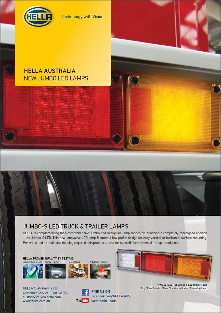 HELLA AUSTRALIA NEW JUMBO LED LAMPS   #hella, #led, #ledlights