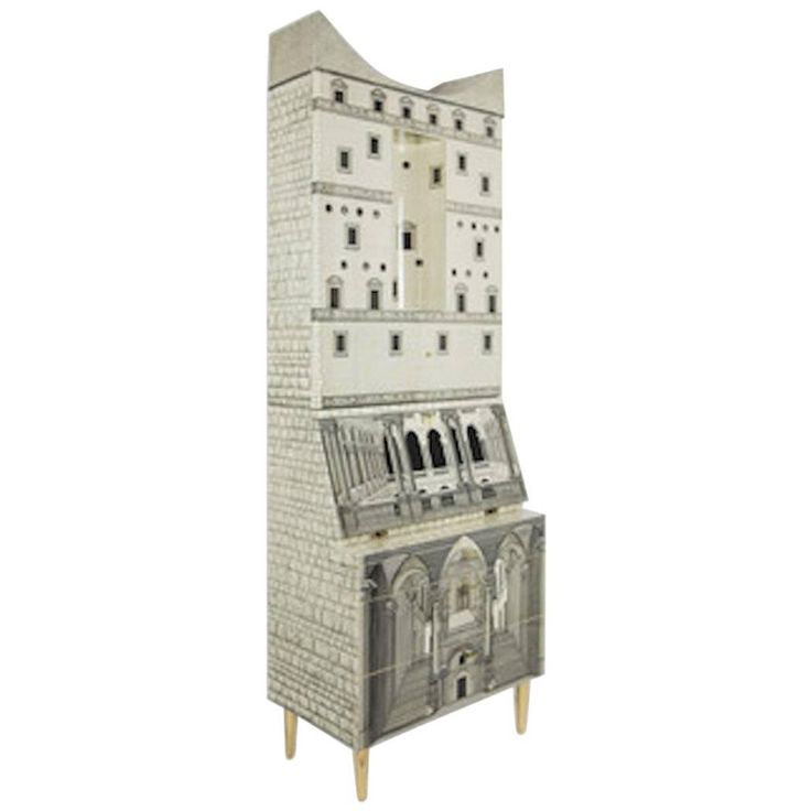 Fornasetti-Trumeau Architecture Black or Ivory, 2015