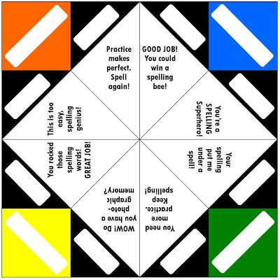 35 best Learn english images on Pinterest Cootie catcher - cootie catcher template