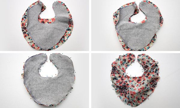 Baby scarf bib. For the fashion conscious drooler!