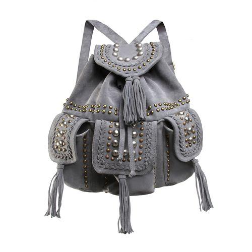 VARIO BACKPACK in Light Grey Cow Suede/Bronze and Silver Hardware. www.jodilee.com.au Facebook: JodiLee Instagram: jodileedesigns