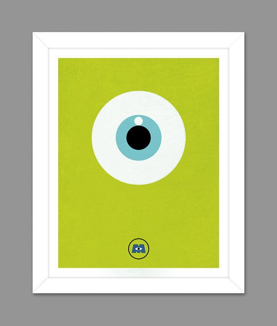 Digital Download Monsters Inc. Big Eye Poster Art By Dotsonthewall