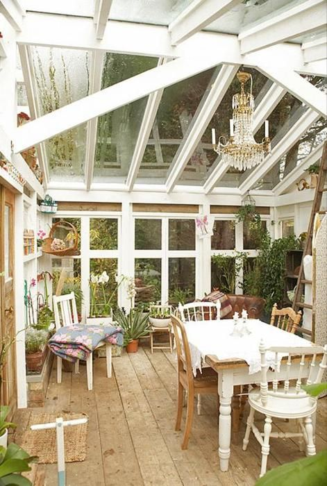 I would love to have a veranda. This type of veranda would be much more suited to western Washington weather.