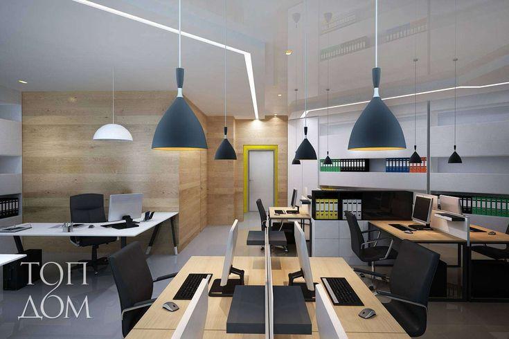Дизайн рабочего пространства офиса компании auto.ru