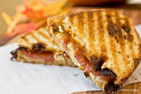 Pumpkin butter, Sopressata and Goat Cheese Panini -- plus other gourmet paninis!