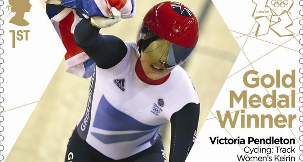 Team GB's Olympic stamps - Victoria Pendleton