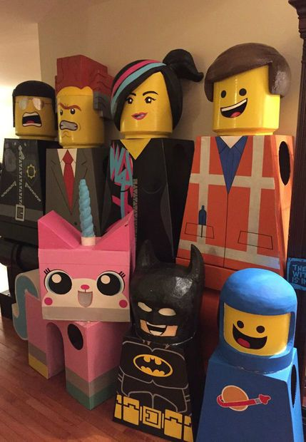 The Lego Movie Lego Costumes by ErinL1 #H365Fave #GroupCostume 70+hours to make! So good!!