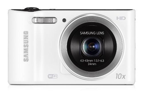 Samsung WB30F Smart Camera 2.0 with Built-In Wi-Fi Connectivity - White (16MP, 10x Optical Zoom) 3.0 inch LCD