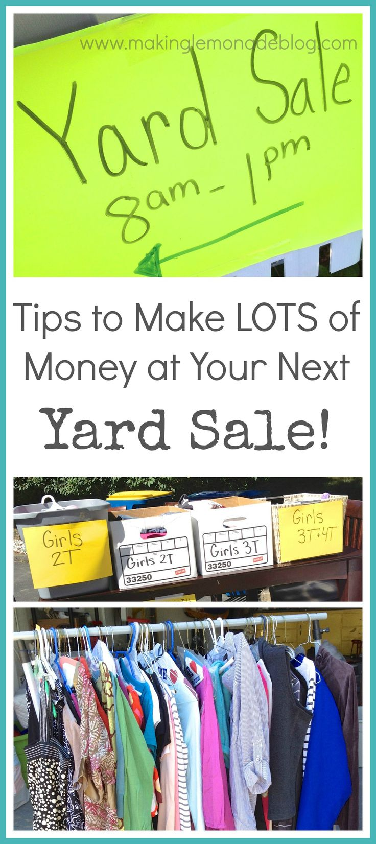 How to Have a WILDLY Successful Yard Sale-- I made $1200 at my last garage sale using these tips!