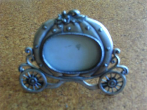 Pewter pumkin cariage photo frame