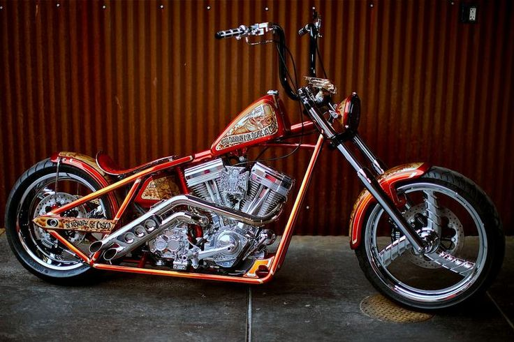 Cisco Dominator built by West Coast Choppers - WCC of U.S.A. Love the story of this bike. It was built in memory of Jesse's favorite dog Cisco & then after Cisco was cremated he had his ashes mixed into the paint used to airbrush Cisco's mural on the tank!