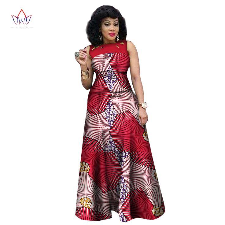 Novo Estilo Verão Vestidos para As Mulheres 2017 de Impressão Africano Africano Roupas Sem Mangas Sexy Vestido Maxi Plus Size BRW WY1341 em Vestidos de Das Mulheres Roupas & Acessórios no AliExpress.com | Alibaba Group