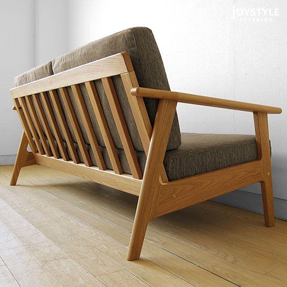 Sala-3P oak sofa BIGJOYオリジナルモデル ホワイトオーク材を使用したシンプルなデザインのソファ 174,000円