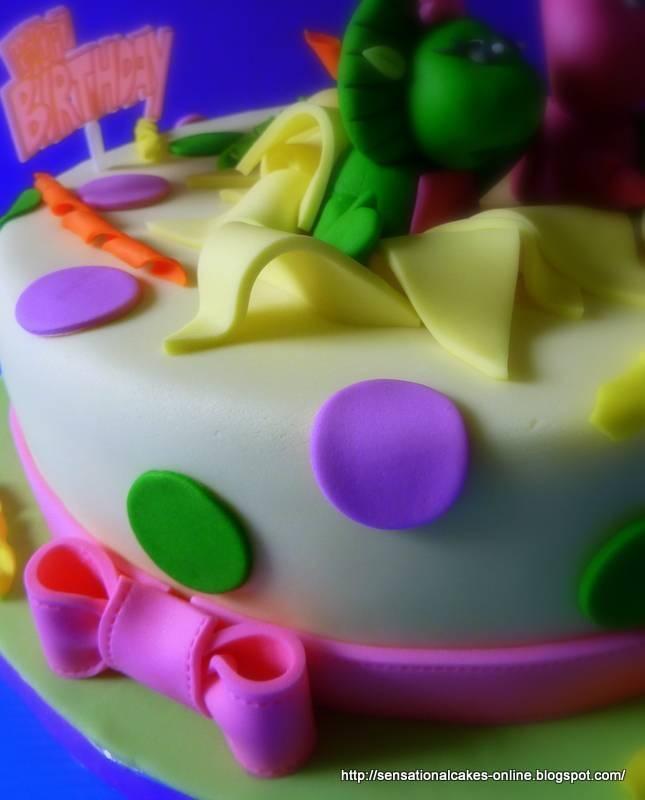 Barney Birthday Cakes Singapore Partyyy Ideasss Barney