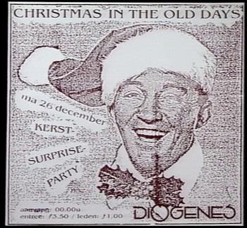 Affiche, kerstmis studentenvereniging Diogenes, Nijmegen