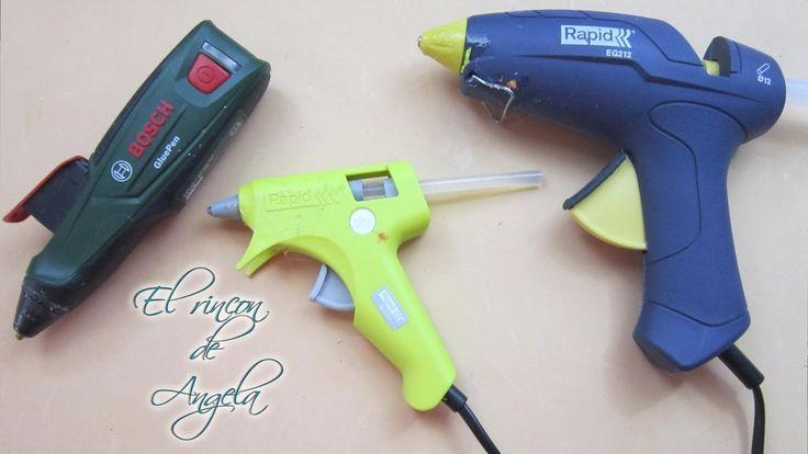 Mis pistolas de silicona caliente para manualidades