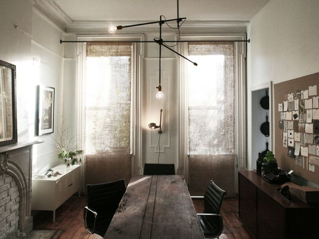 burlap curtains/dowels for weight