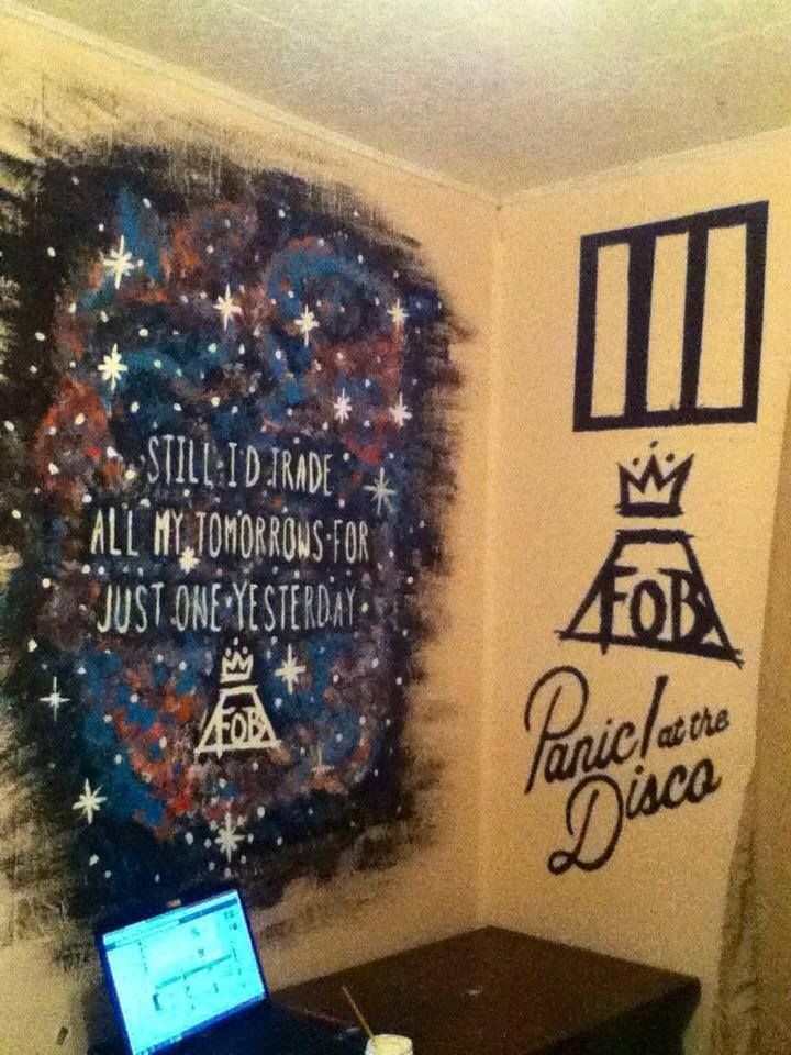 """falling-out-boy: """"i repainted my walls """""""
