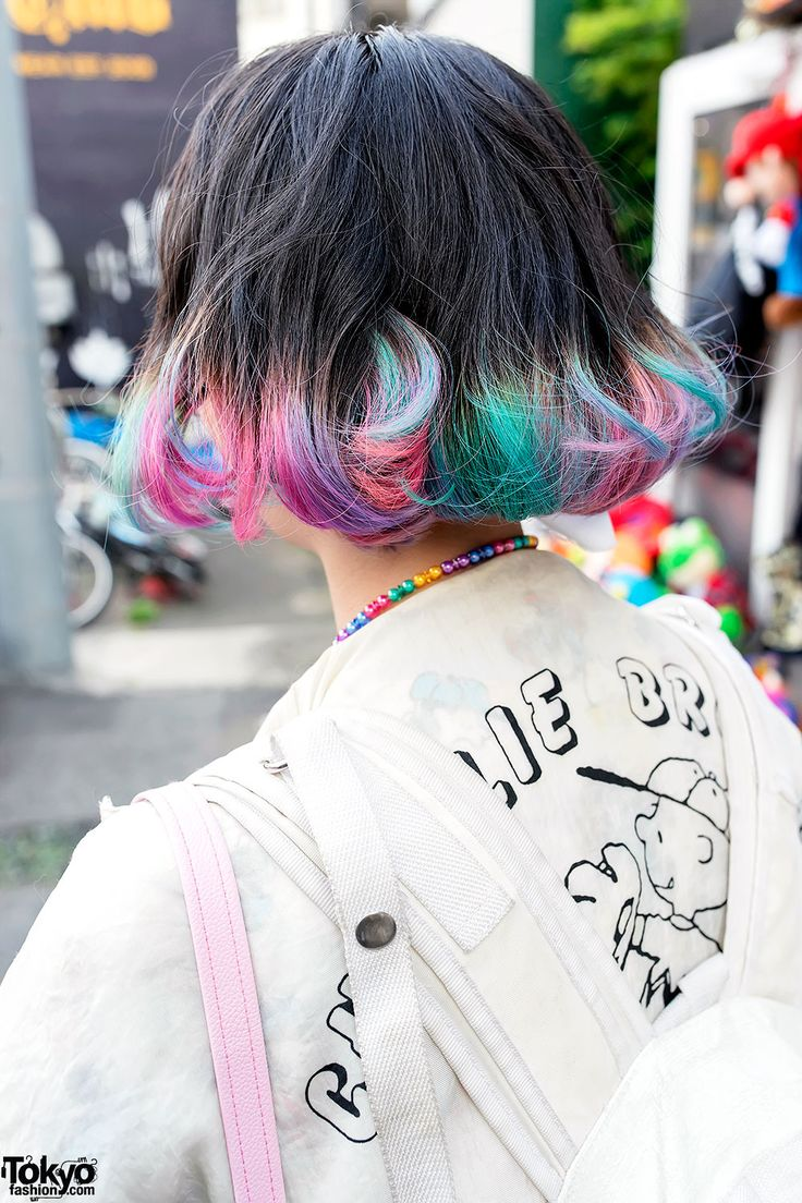 Elleanor in Harajuku w/ Colorful Hair, Himitsu Kessya, Creamy Mami & Betty Boop Rainbow Bob Harajuku Hairstyle – Tokyo Fashion News