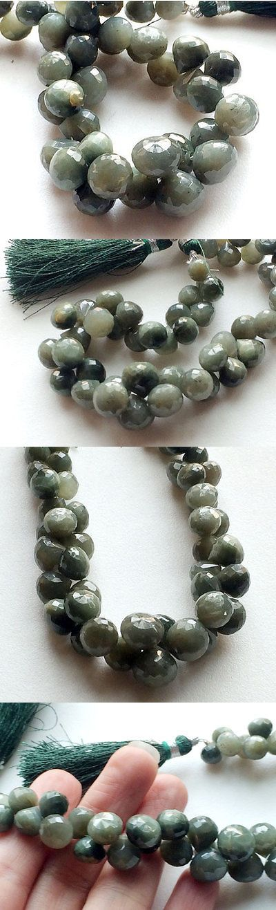 Cats Eye Quartz 69163: 107.5 Carat 14 Strand, Cats Eye Beads, Onion Briolettes, Faceted Cats Eye Gems BUY IT NOW ONLY: $83.39