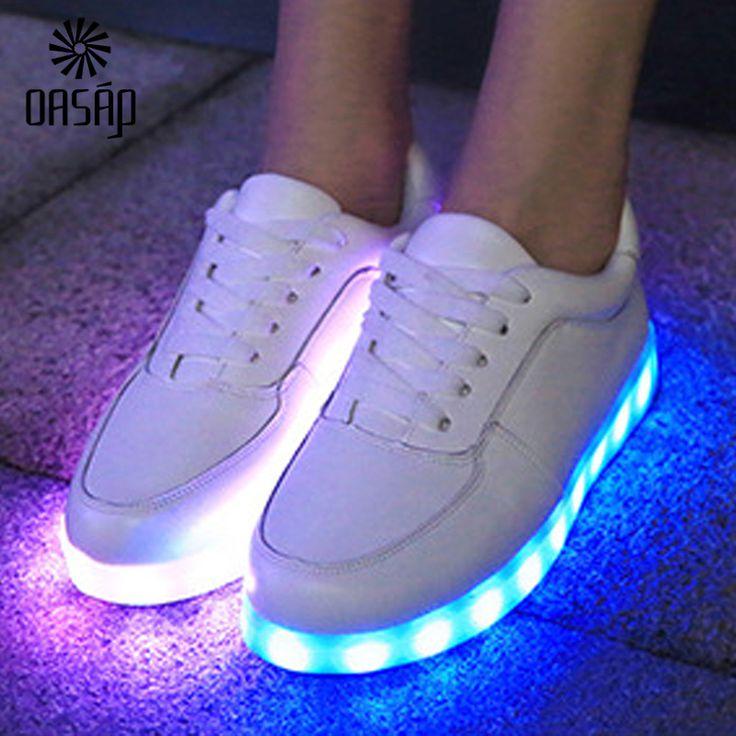 Goedkope Oasap 2015 vrouwen glowing schoenen wit/zwart licht up schoenen led lichtgevende schoenen zool led schoenen voor volwassenen neon Mand led 93785, koop Kwaliteit vrouwen casual schoenen rechtstreeks van Leveranciers van China: detailseuro35/us5/uk3euro36/us5.5/uk3.5euro37/us6/uk4euro38/us6.5/uk4.5euro39/us7/uk5euro40/us7.5/uk6   dit paar s