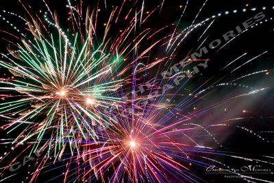 Fireworks - an amazing spectrum of colours