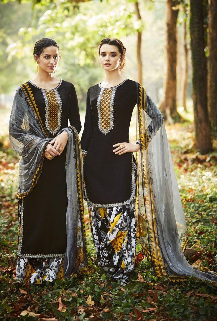 Black Designer Punjabi Suit