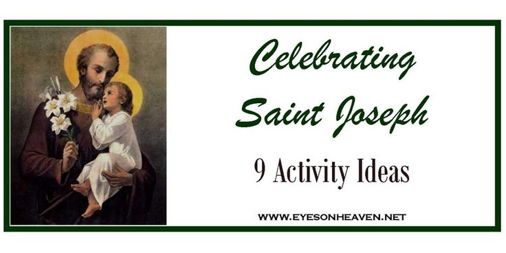 ShareTweet+ 1MailSt. Joseph is a very holy example who, in my opinion, often doesn't get enough attention. His role in Jesus' life remained largely ...