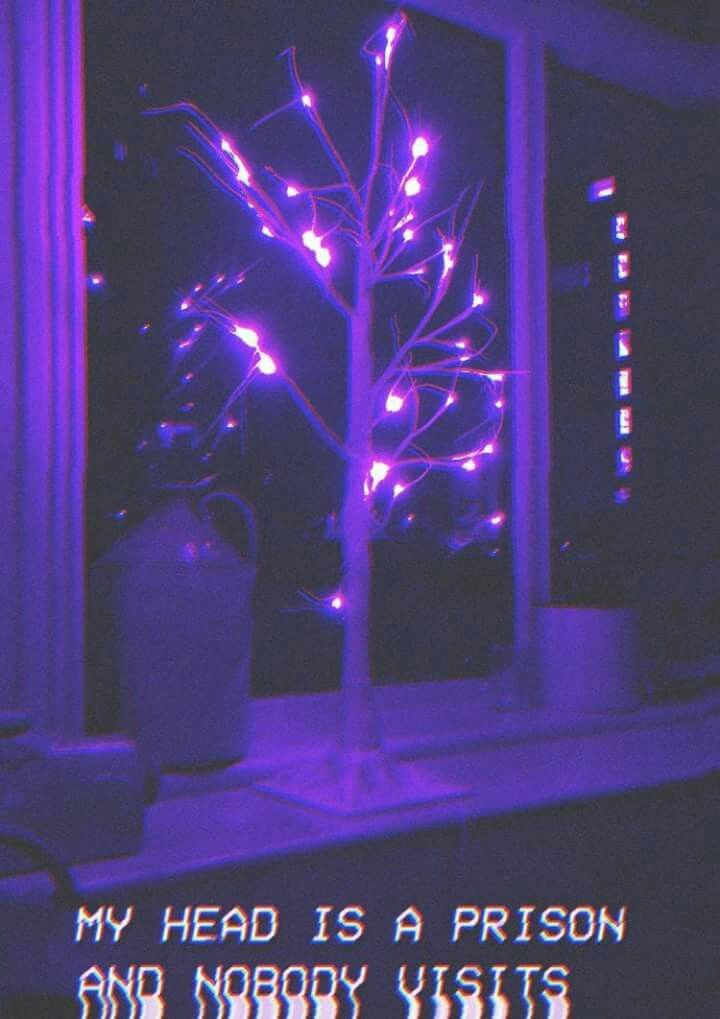 Pin by Skyler on Purple/neon/asthetic   Dark purple ...