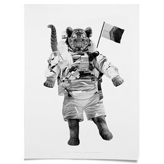 Tiger on the Moon Print 40% OFF