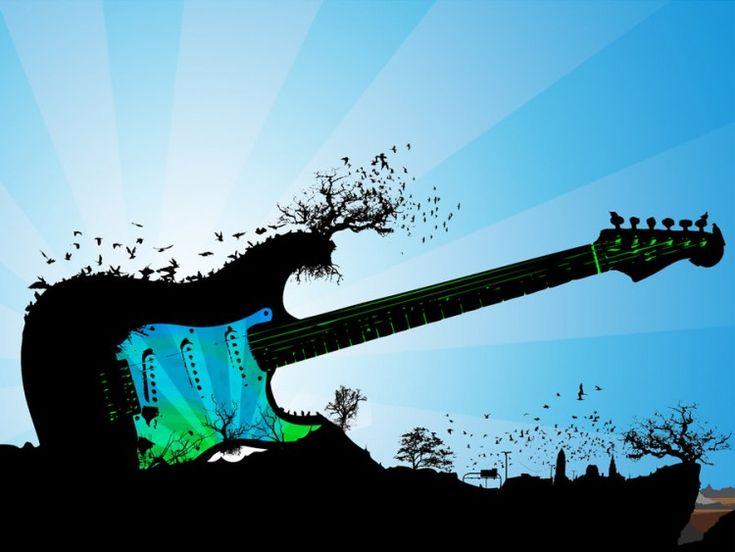 fond d'ecran guitare