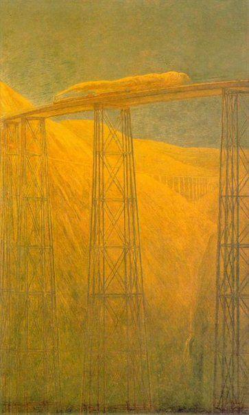 Gaetano Previati, Railroad on the Pacific, 1915