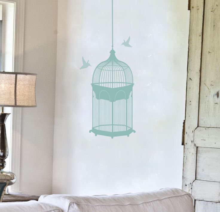 shabby chic bird cage from wallart-studios