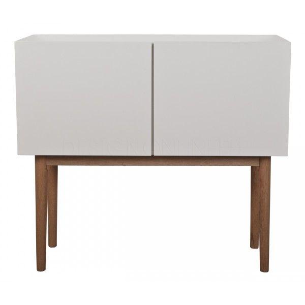Dressoir High On Wood 2DO Wit Zuiver /  Breedte 90 cm / Hoogte 80 cm / Diepte 40 cm / Hoogte poten: 42 cm /  Prijs € 299,-