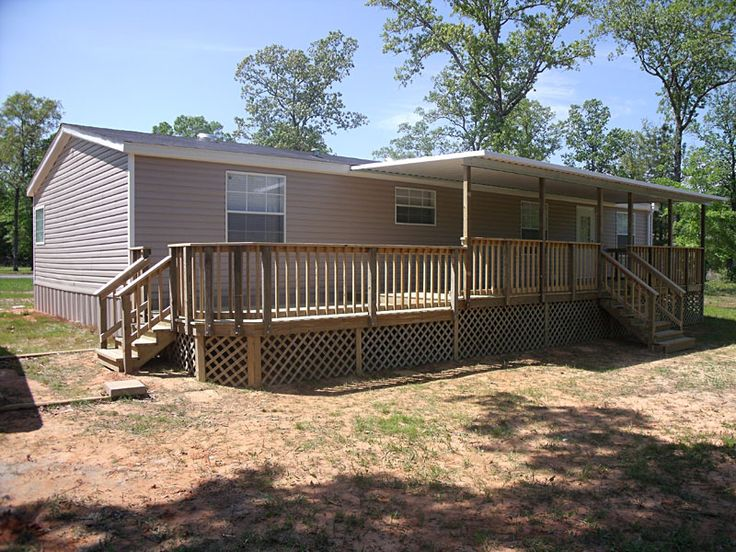Diy decks and porch for mobile homes for Pictures of porches on mobile homes