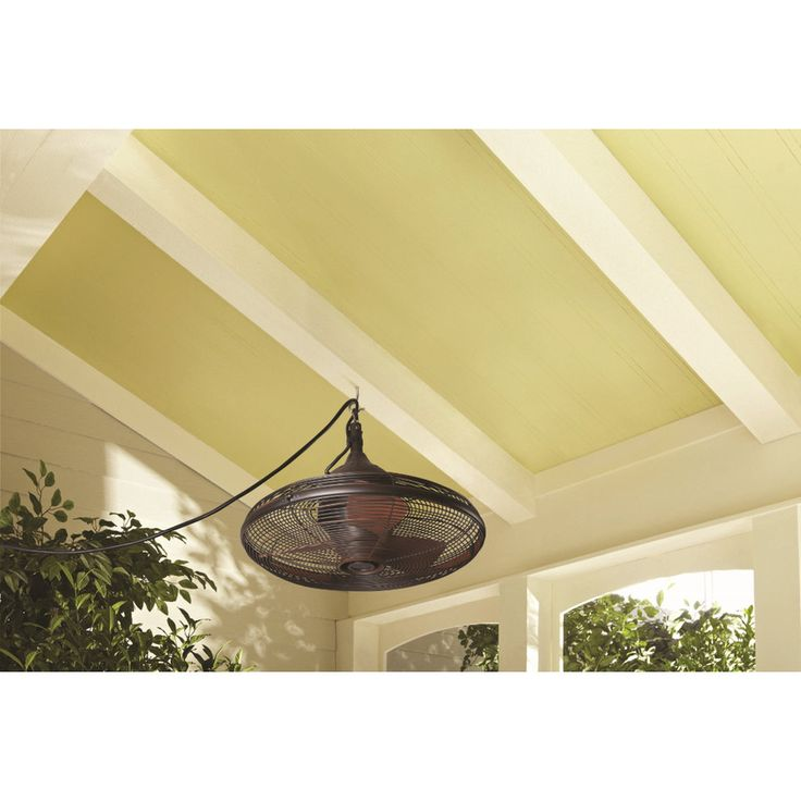 Shop allen + roth Valdosta 20-in Oil Rubbed Bronze Outdoor Downrod Mount Ceiling Fan (3-Blade) at Lowes.com