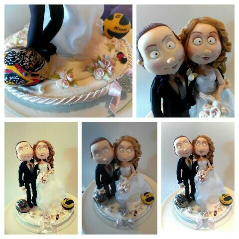 #caketopper #wedding #quisquilie #polymerclay