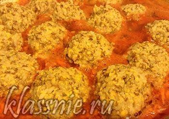 """Вегетарианские тефтели """"Ежики"""" из чечевицы в томатном соусе   Классные вегетарианские рецепты"""