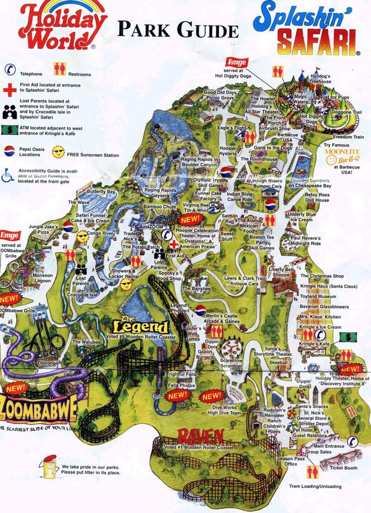 Best Holiday World Indiana Ideas On Pinterest Holiday World - Map of us amusement parks