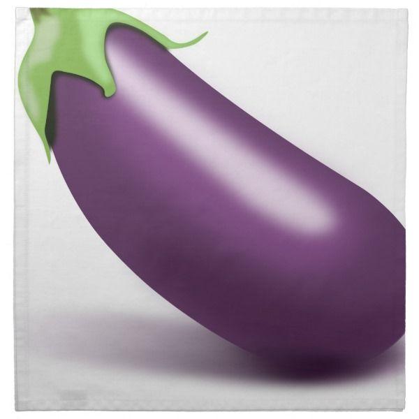 Eggplant Cloth Napkin Zazzle Com Cloth Napkin Emoji Party Decorations Emoji Party Supplies