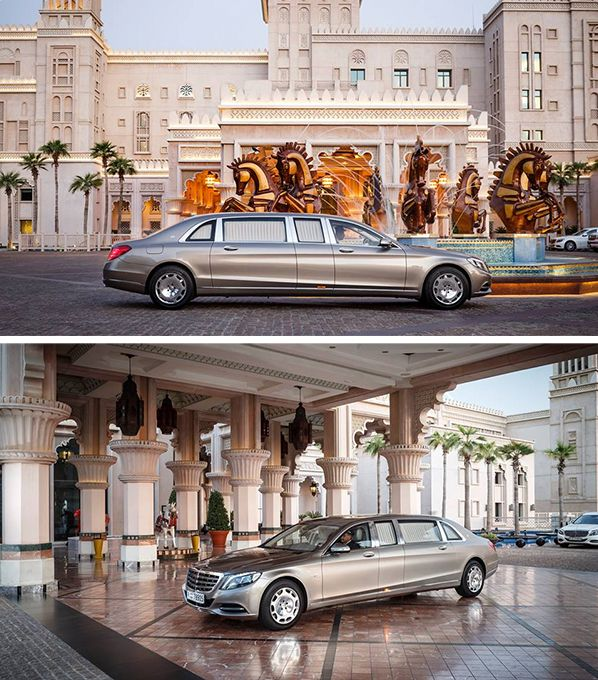 The new Mercedes-Maybach S-Class Pullman: Mercedes-Maybach's second model assumes the top-of-the-range position and at the same time stands as a proud example of the automotive luxury traditionally associated with Maybach. [Mercedes-Maybach S 600 Pullman | Combined fuel consumption 12.9 l/100km | combined CO2 emission 299 g/km | http://mb4.me/efficiency_statement]