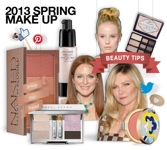 2013 Spring make up - shopthemagazine.com #Lilac #rose # freshfaces # glowing cheeks