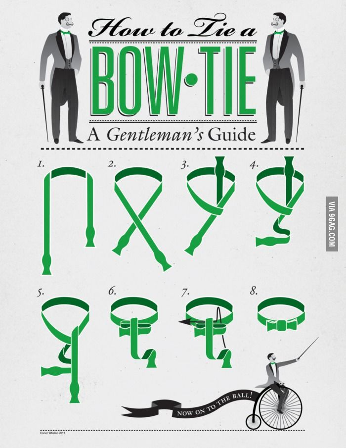 How to tie a bow tie. Because men in bow ties are irresistible, so being knowledgable about how to tie them is essential, yes?