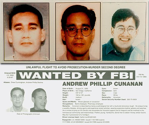 Serial Killers Part 6 Andrew Cunanan Murders A Fashion